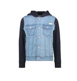 B.Nosy Boys denim jacket with sweat hood and sleeves