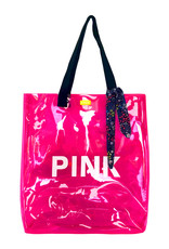 B.Nosy Girls fluo transparant bag