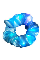 Scrunchie met lichtjes Blauw
