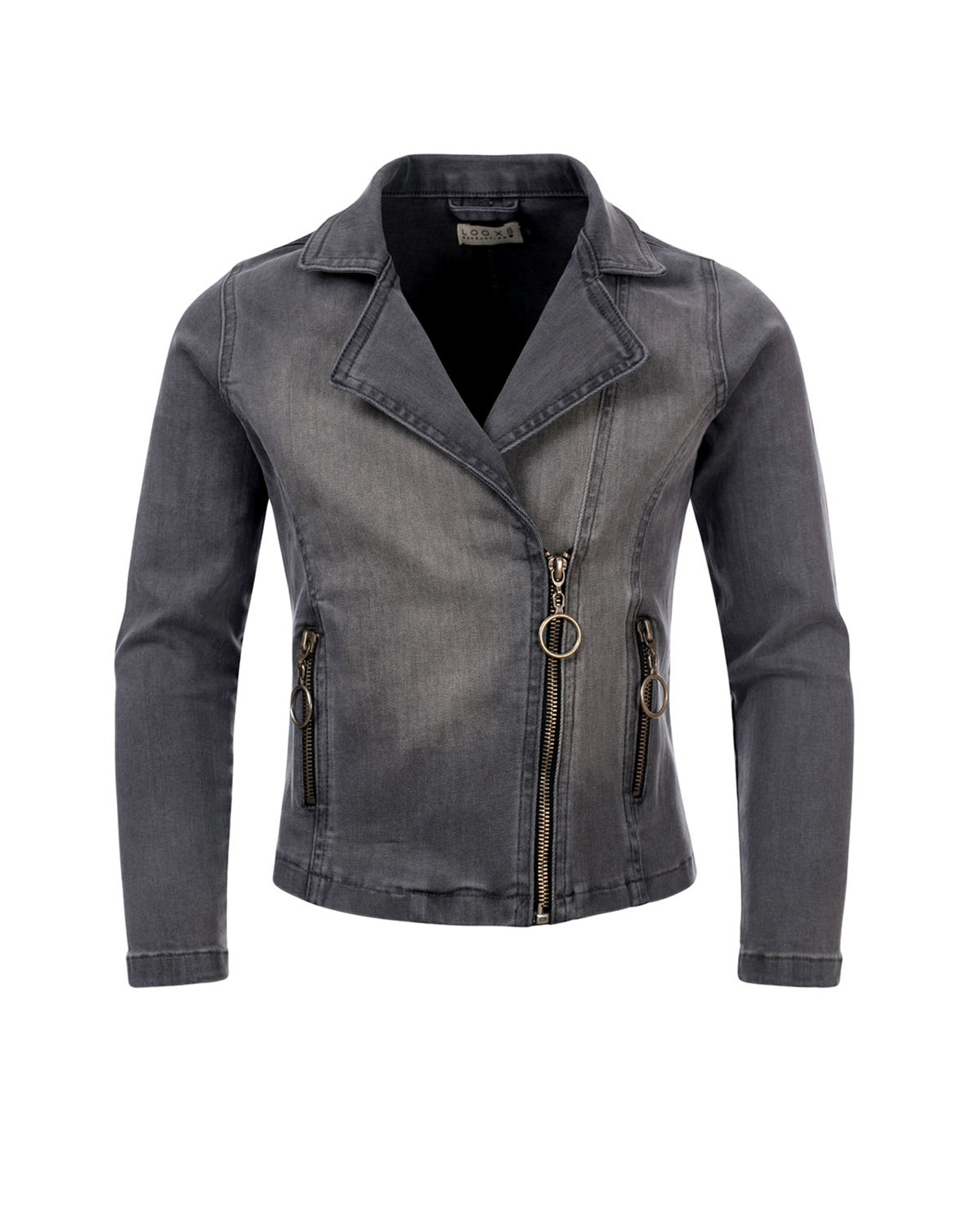 Looxs 10SIXTEEN 10Sixteen biker jacket soft grey