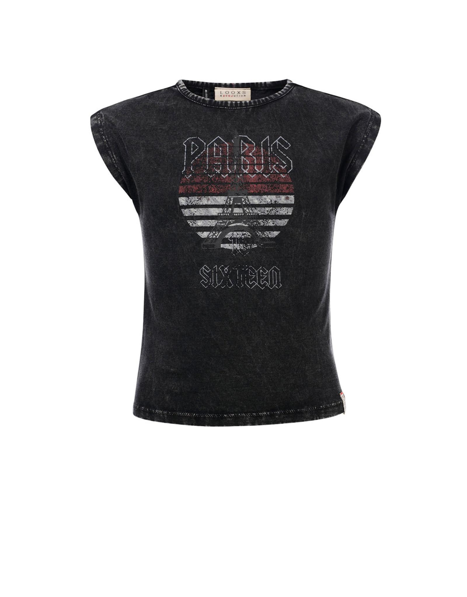 Looxs 10SIXTEEN 10Sixteen Acid wash T-shirt