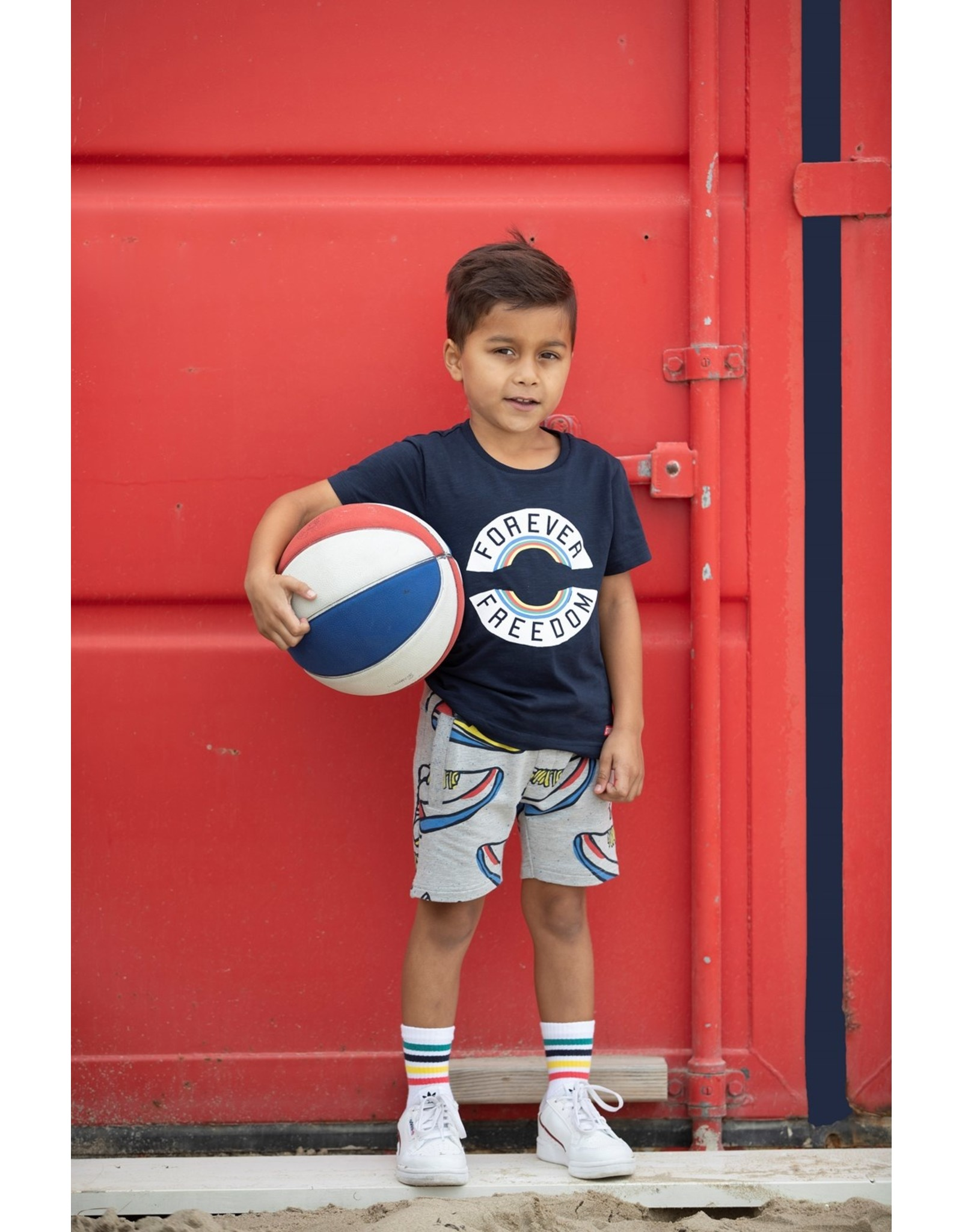 Sturdy Short AOP grijs - Playground