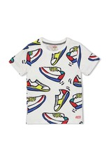 Sturdy T-shirt AOP Sneakers wit - Playground