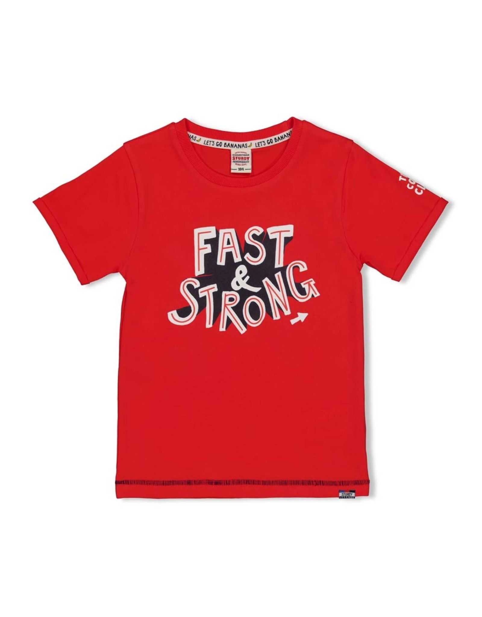 Sturdy T-shirt Fast rood  - Playground