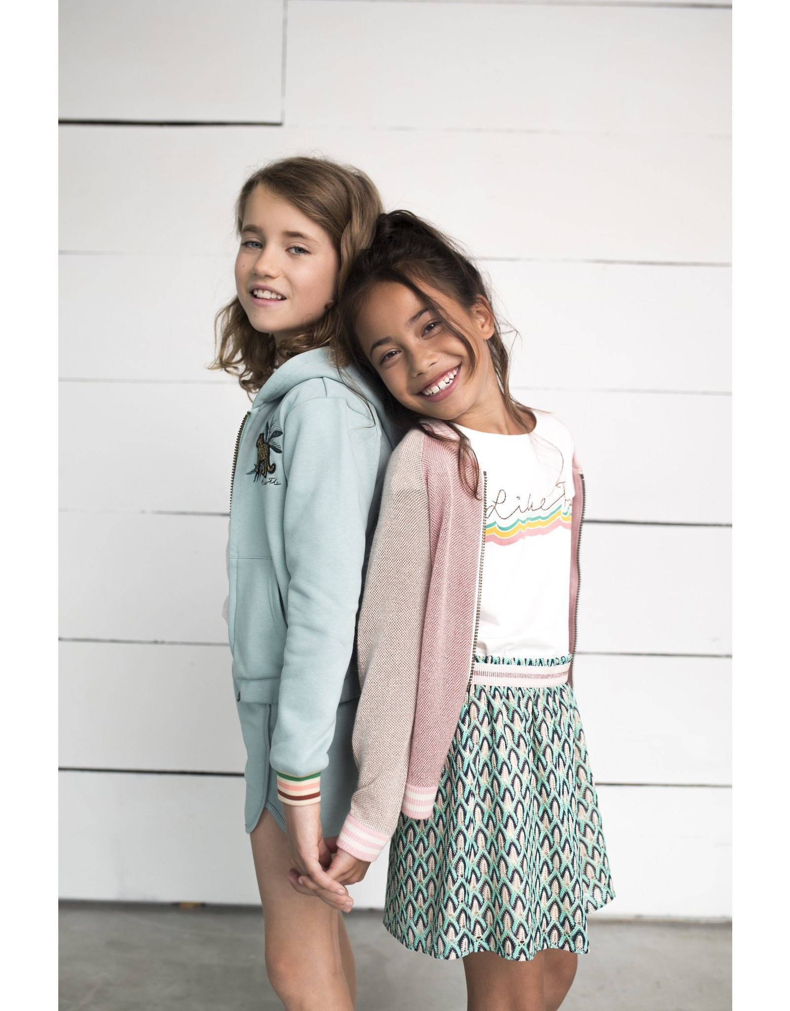 Like Flo Flo girls fancy knit cardigan blush