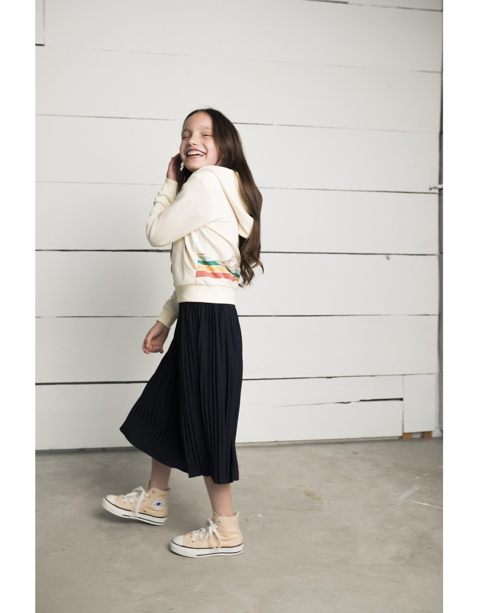 Like Flo Flo girls jersey plisse skirt maxi navy