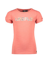 Like Flo Flo girls tee open shoulder roll divers blush
