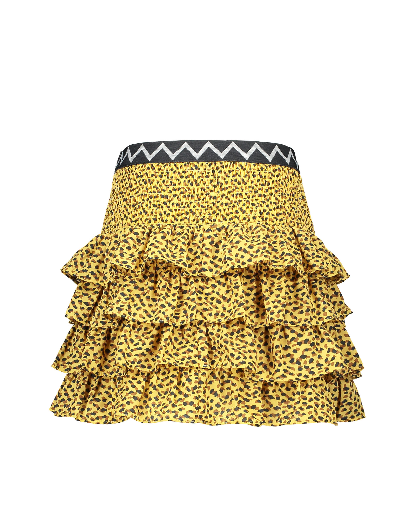 Like Flo Flo girls AO woven smock ruffle skirt panther