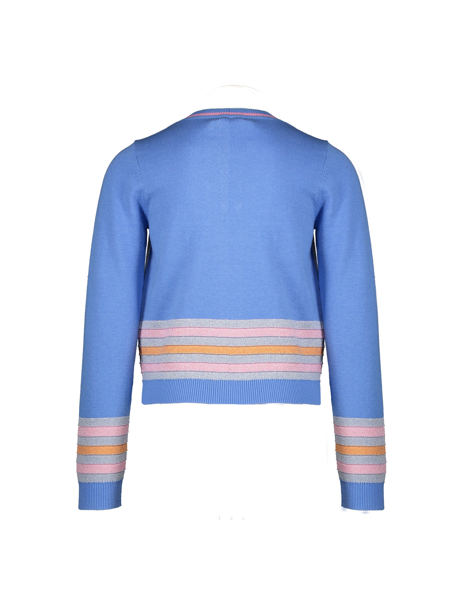 Nono AuraB cardigan solid with stripe detail at hem
