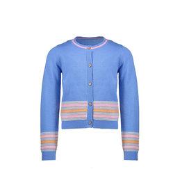 Nono AuraB cardigan solid with stripe detail at hem