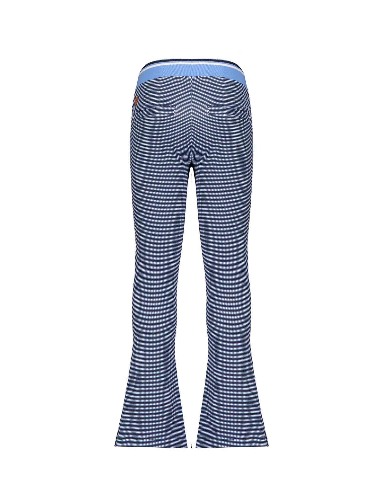 Nono Sahara flared pants in Gingham AOP check