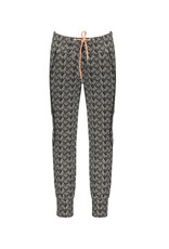 Nono Soso fancy sweat pants in African Aop with piping detail