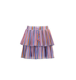 Nono Nikkie 2 layered short skirt in Bright Stripes