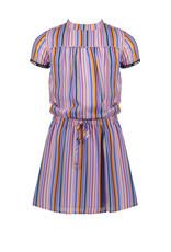 Nono Mirthe ss woven dress in Bright stripes