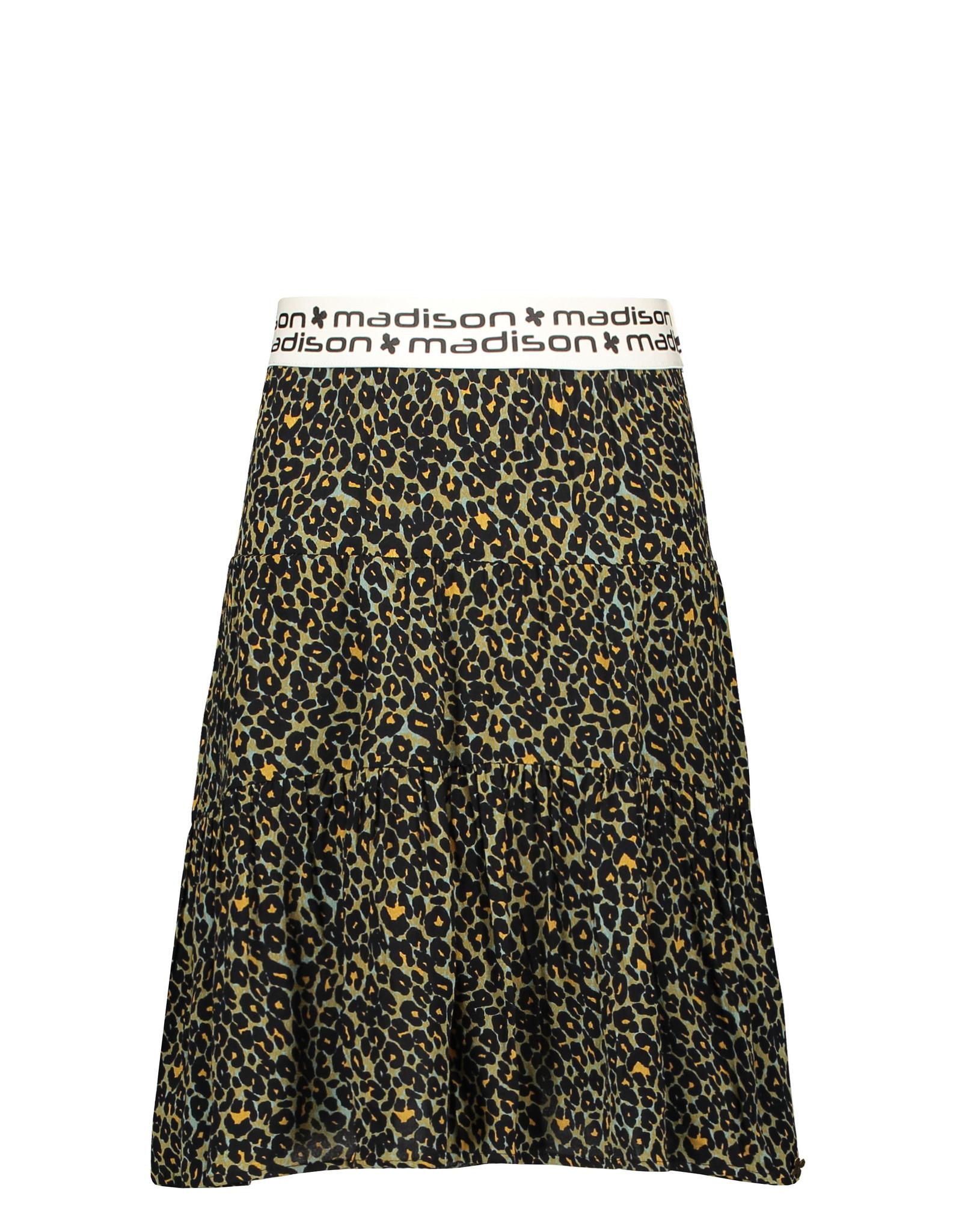Street Called Madison Luna viscose panther skirt MONKIE AR