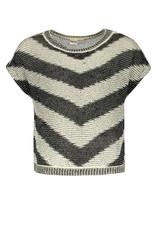 Street Called Madison Luna zigzag knit top TIGER BK