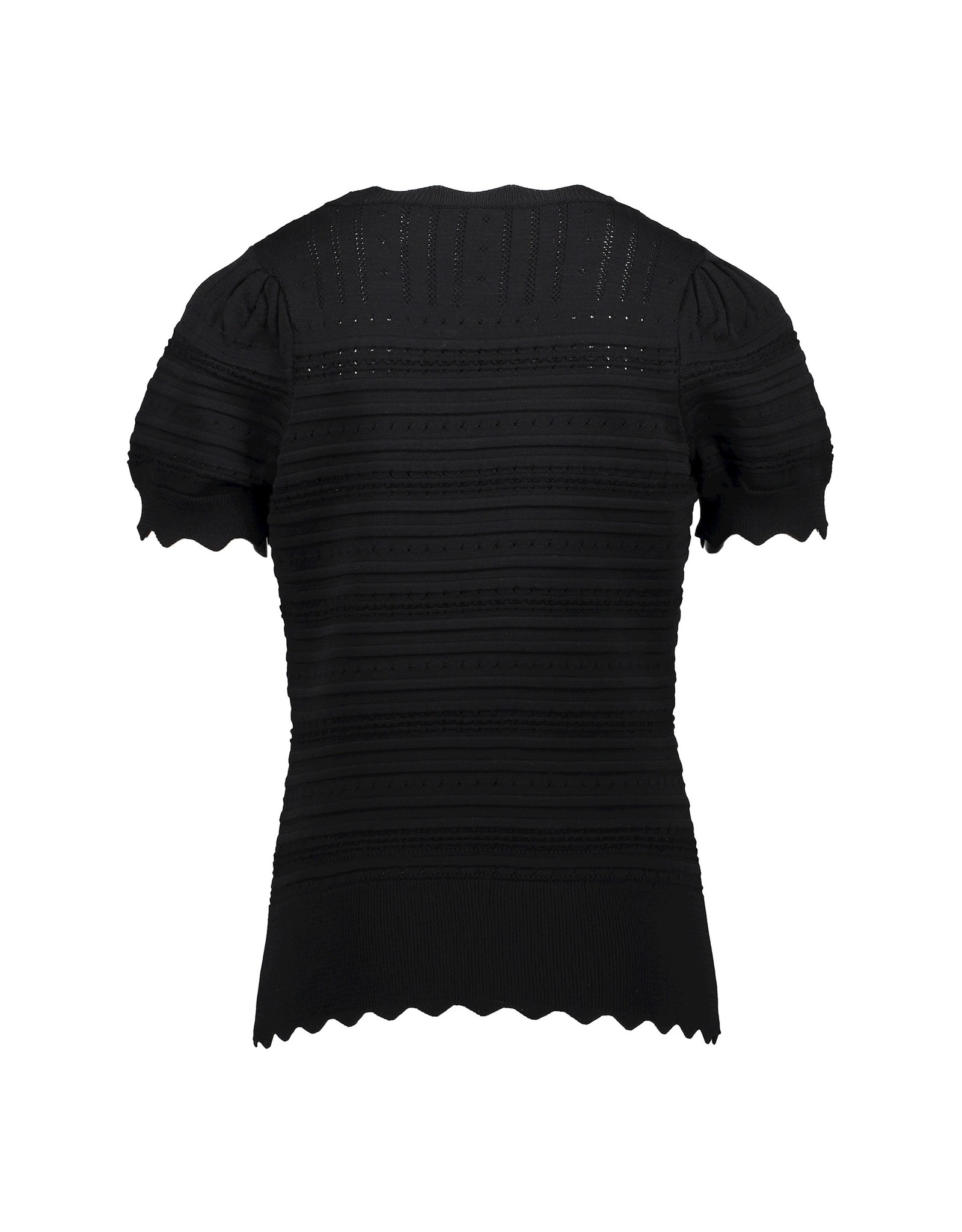 Geisha Top ajour s/s black