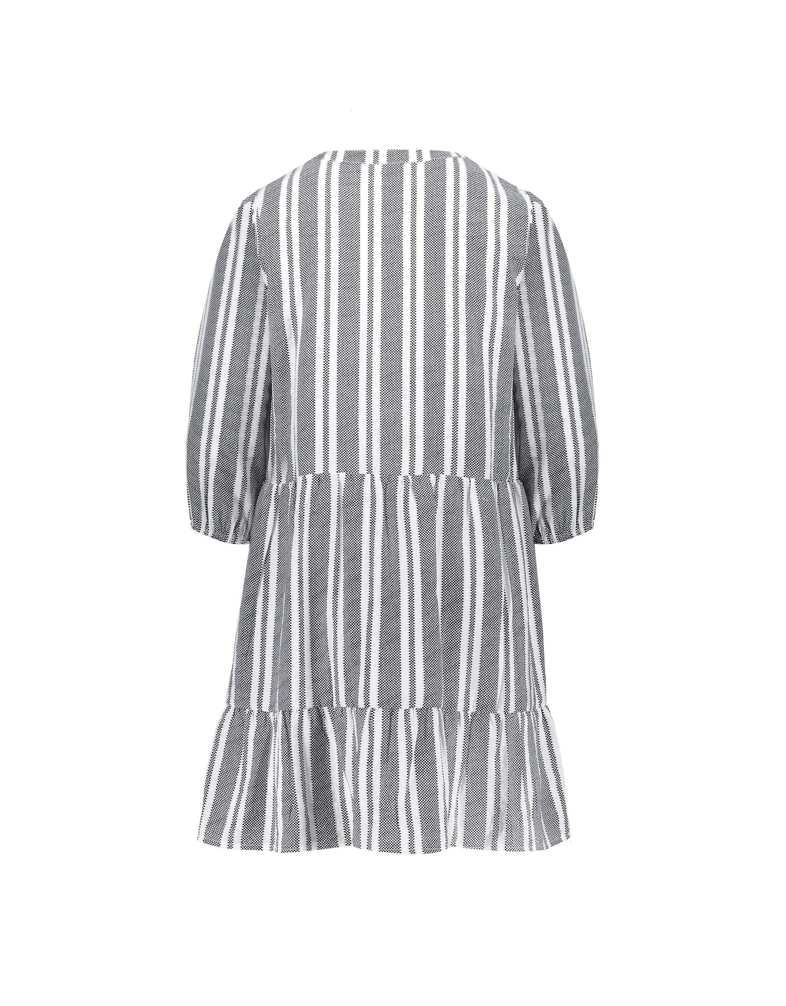 Geisha Dress striped dots & elastic at arm