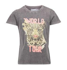 Geisha T-shirt acid dyed tiger head s/s