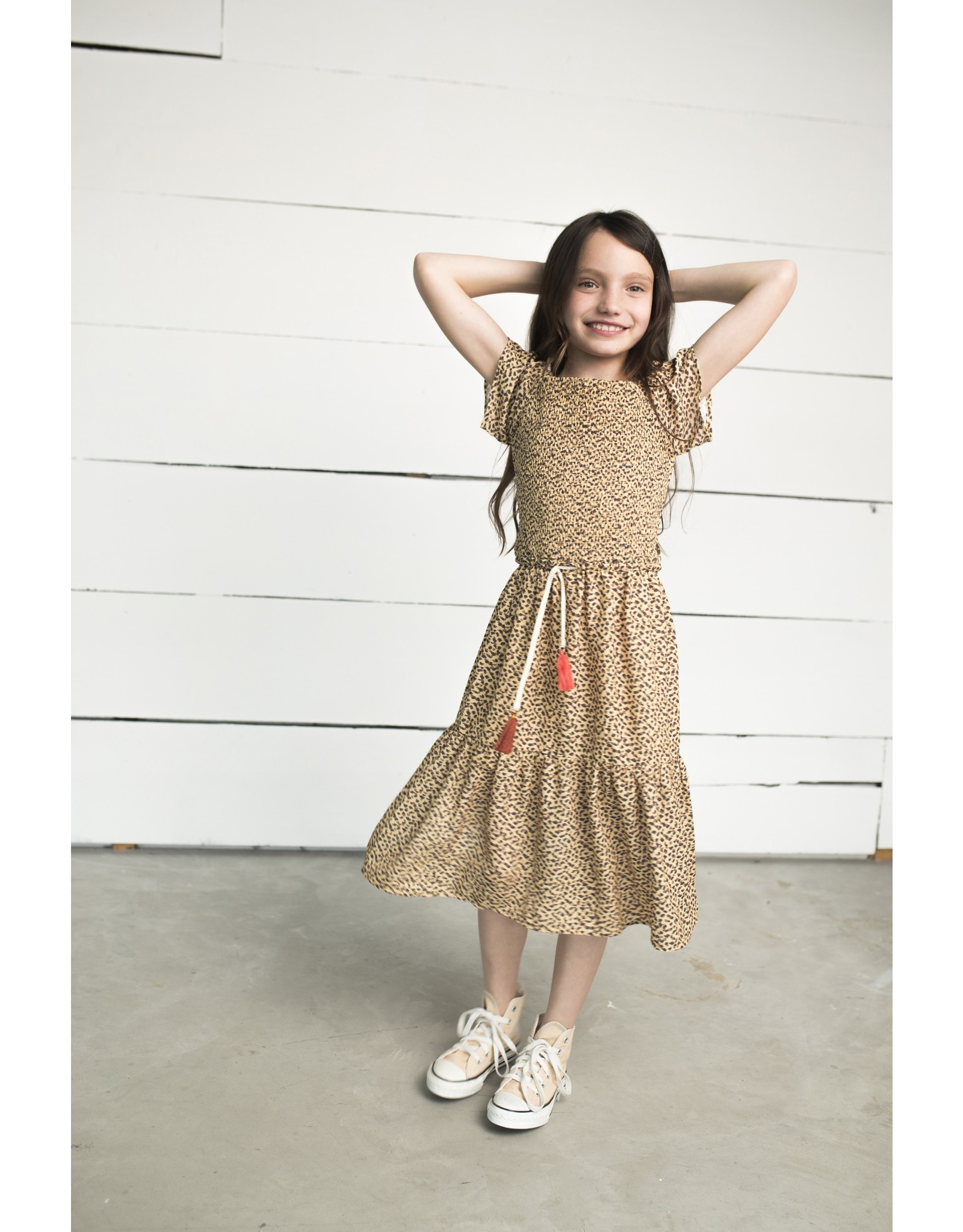 Like Flo Flo girls AO woven smock maxi dress