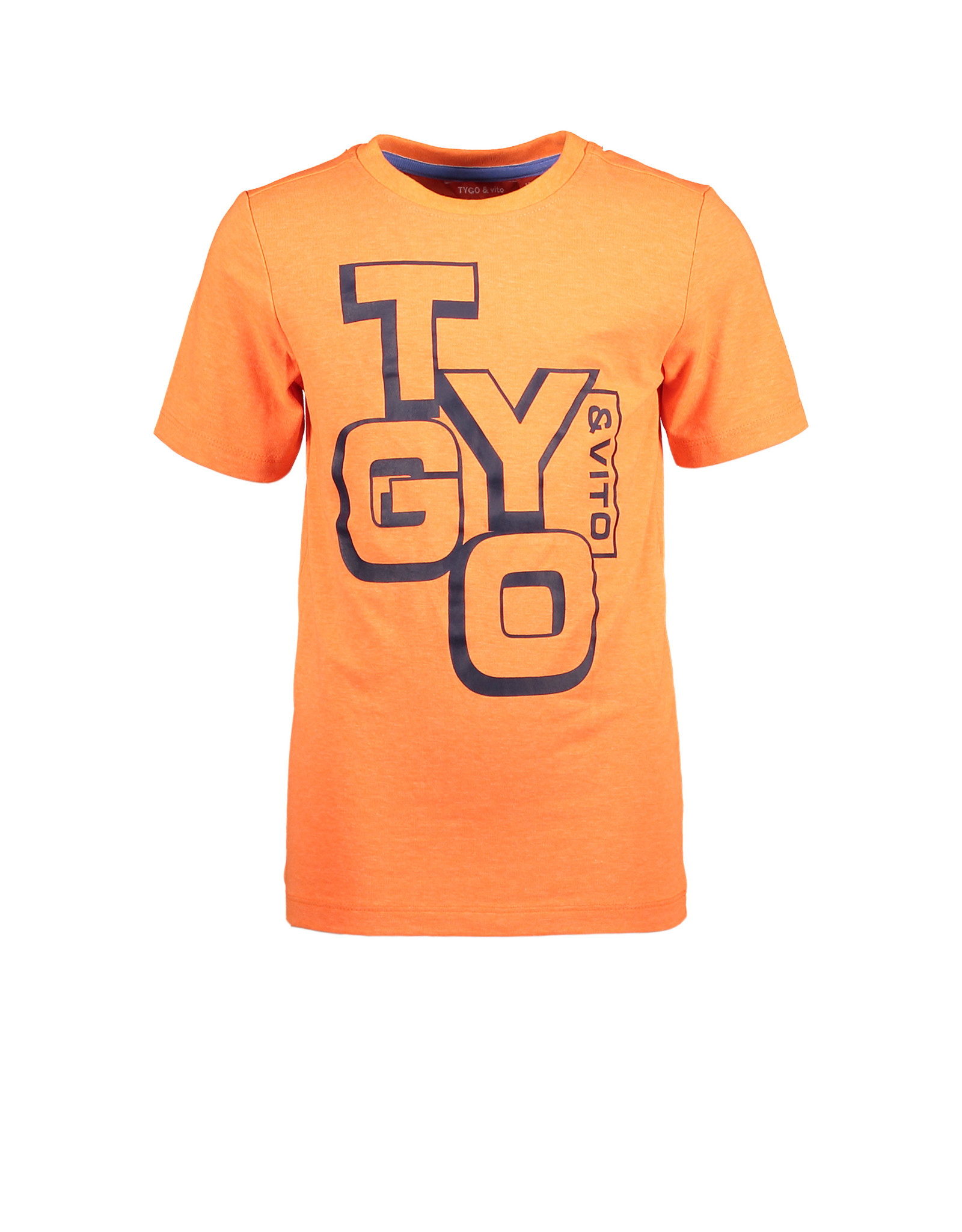 Tygo & Vito T&v neon T-shirt LOGO orange