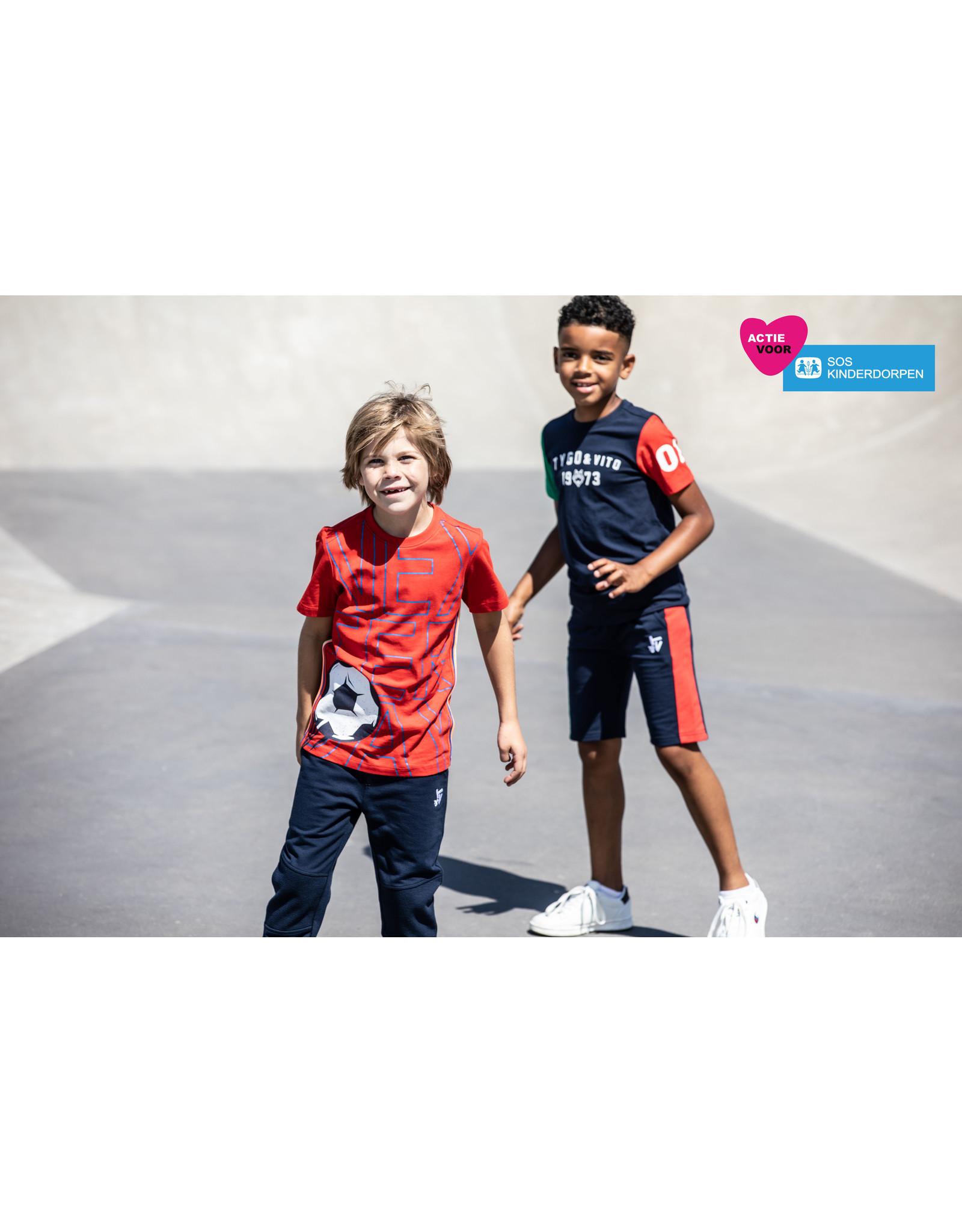 Tygo & Vito T&v jog pants kneepatch navy