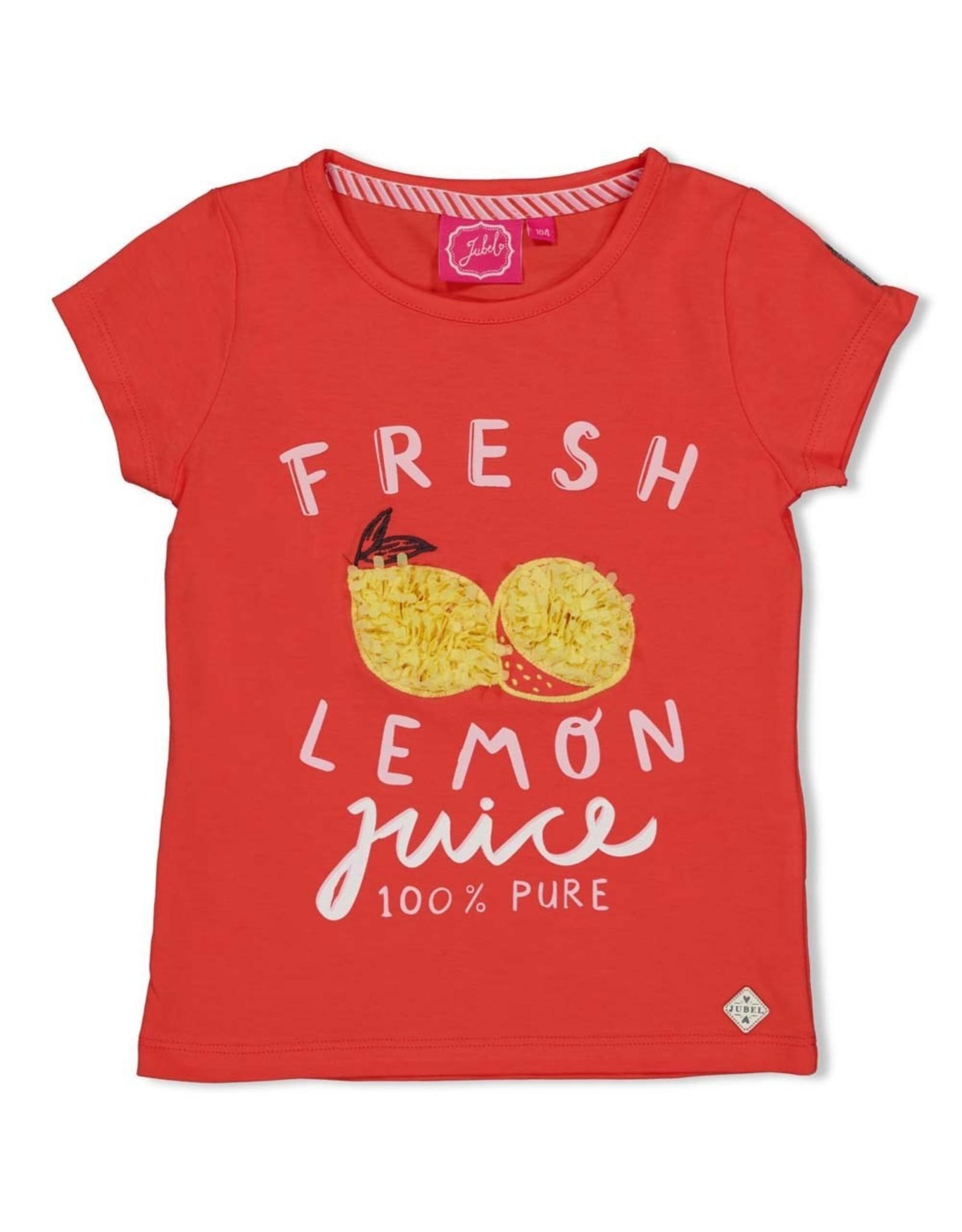 Jubel T-shirt Fresh koraal - Tutti Frutti