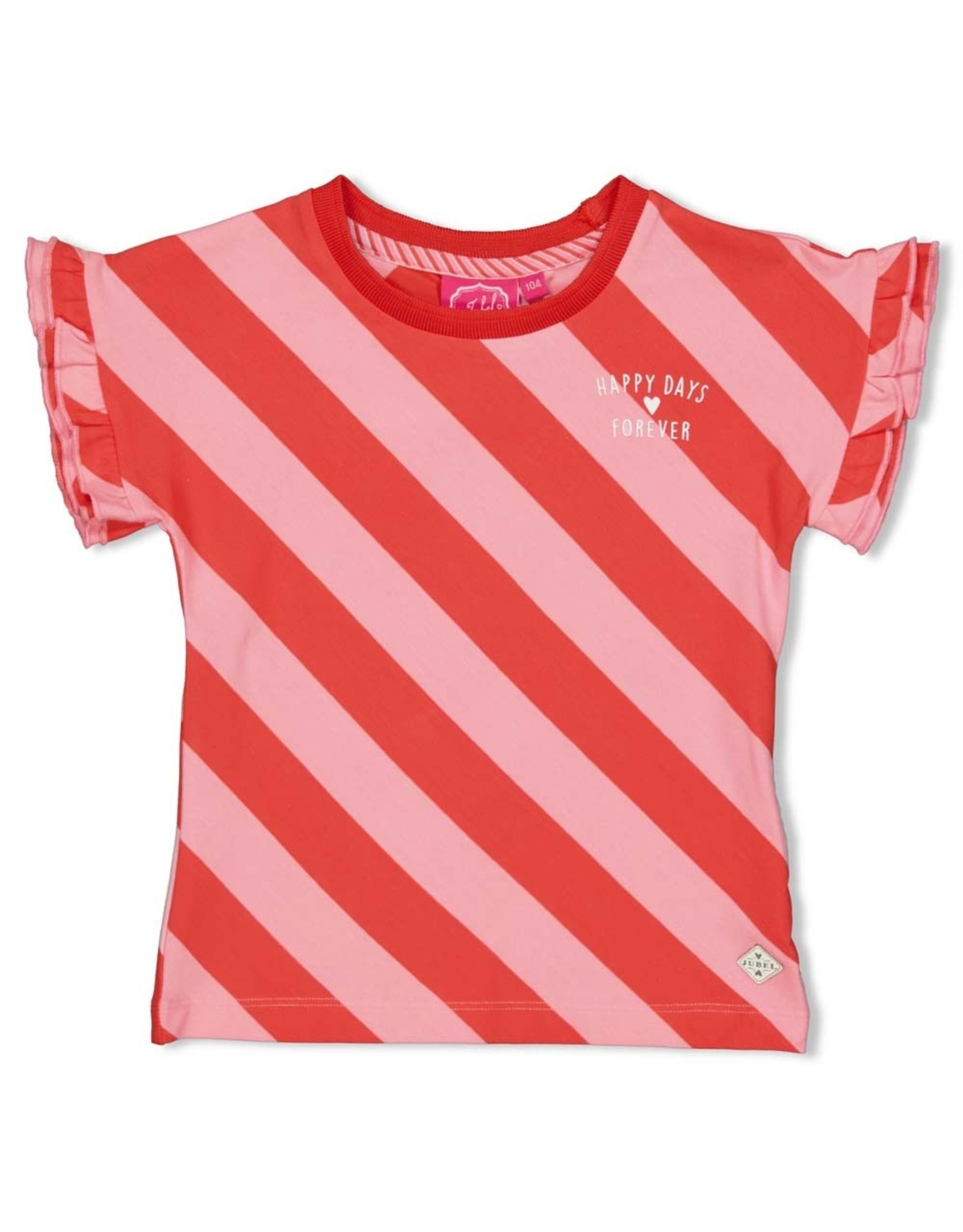 Jubel T-shirt streep diagonaal - Tutti Frutti