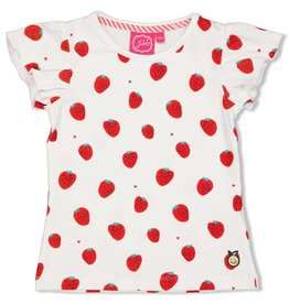 Jubel T-shirt AOP wit - Tutti Frutti