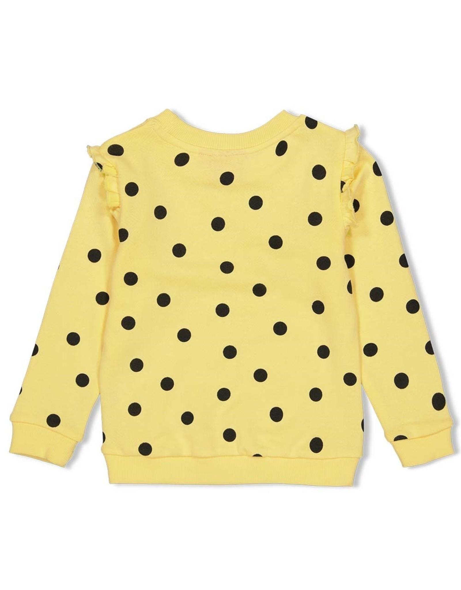 Jubel Sweater AOP geel - Tutti Frutti