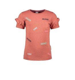 B.Nosy Girls lurex shirt with ao embro