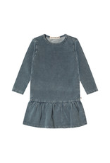 Your Wishes Knitted Denim | LS Shift Dress