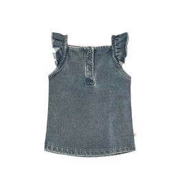Your Wishes Knitted Denim | Ruffle Singlet kids