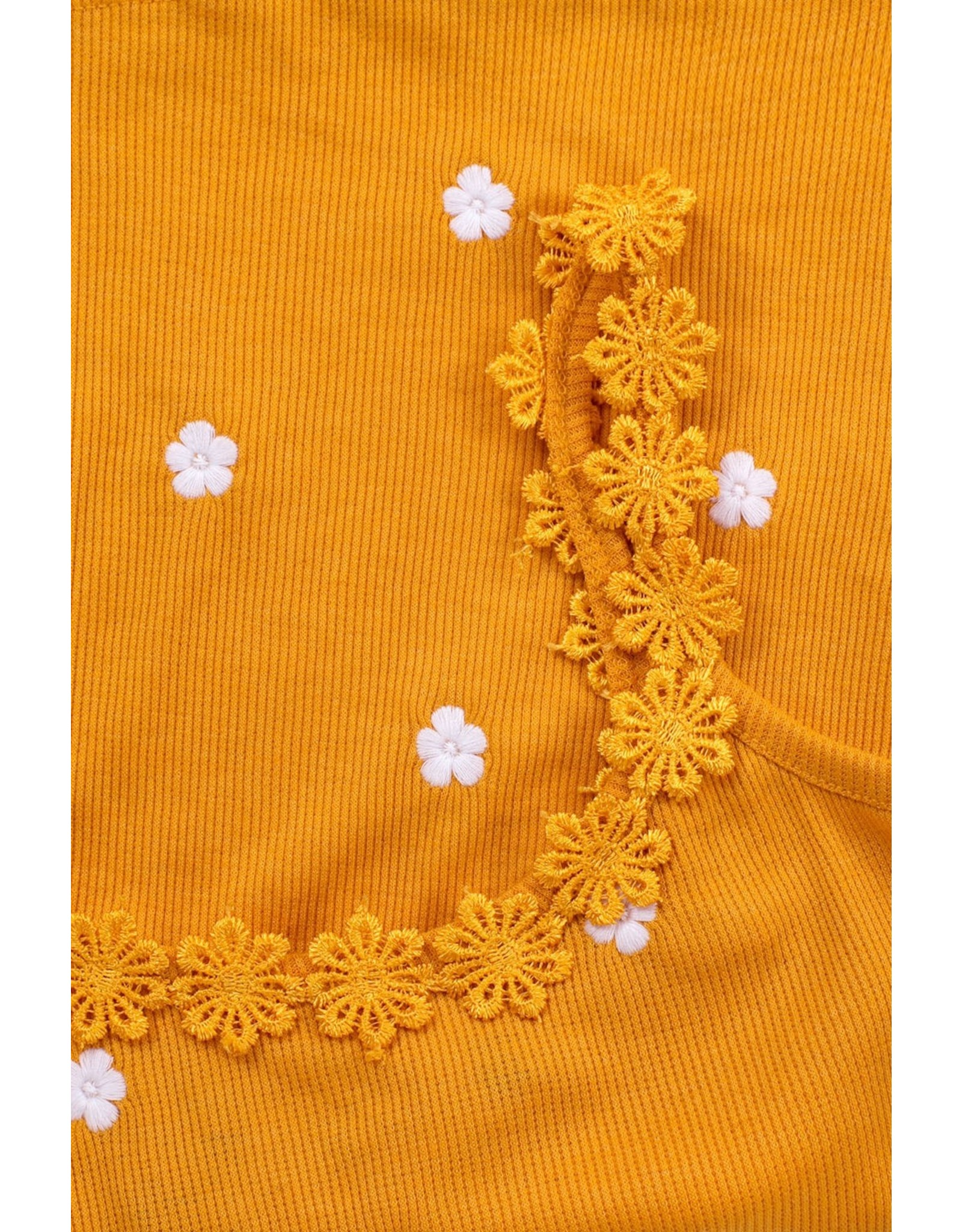 Looxs 10SIXTEEN 10Sixteen rib singlet with daisy sunflower