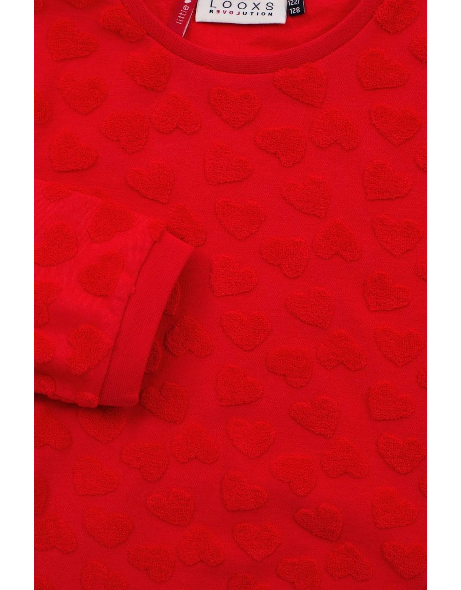 Looxs Little Little sweater 3/4 sleeve red apple