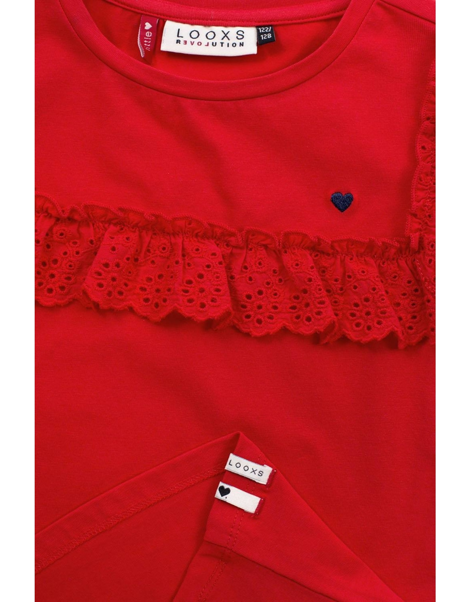 Looxs Little Little t-shirt s. sleeve red apple