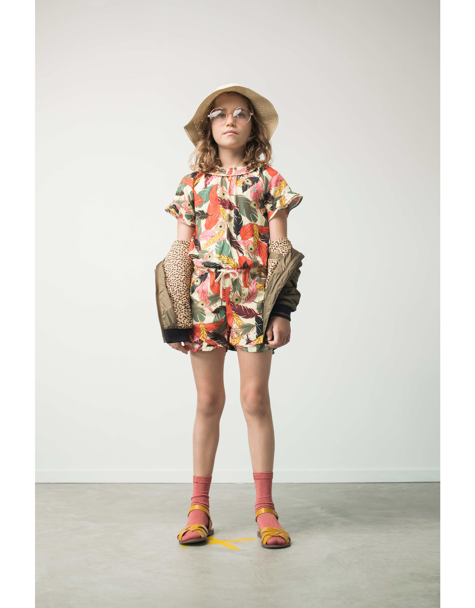 Like Flo Flo girls AO woven jumpsuit short