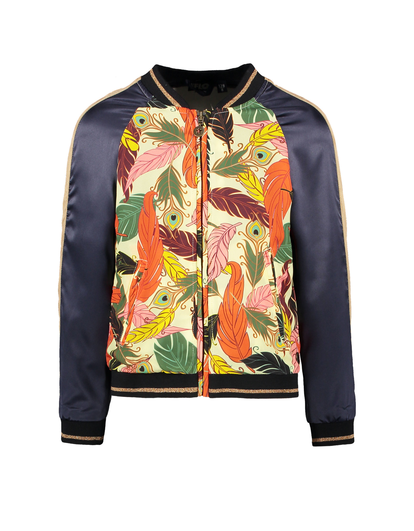 Like Flo Flo girls woven satin baseball jacket