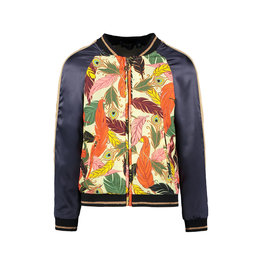 Like Flo Flo girls woven satin baseball jacket