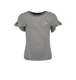 Like Flo Flo girls fancy ruffle slv tee stripe