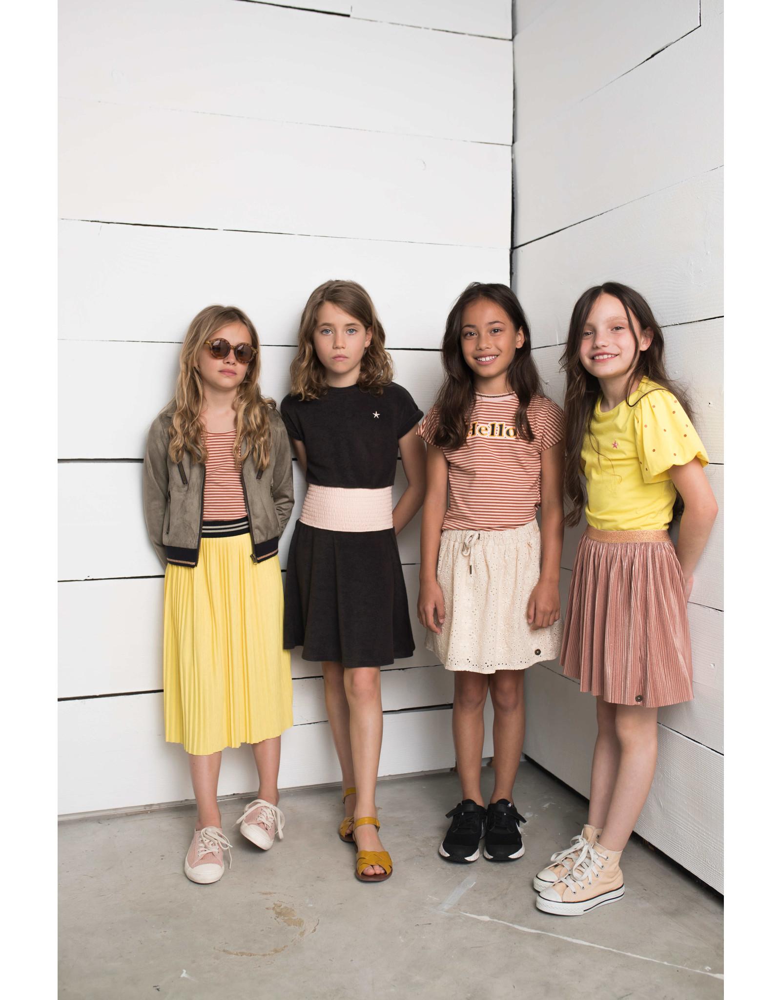 Like Flo Flo girls rose gold plisse skirt