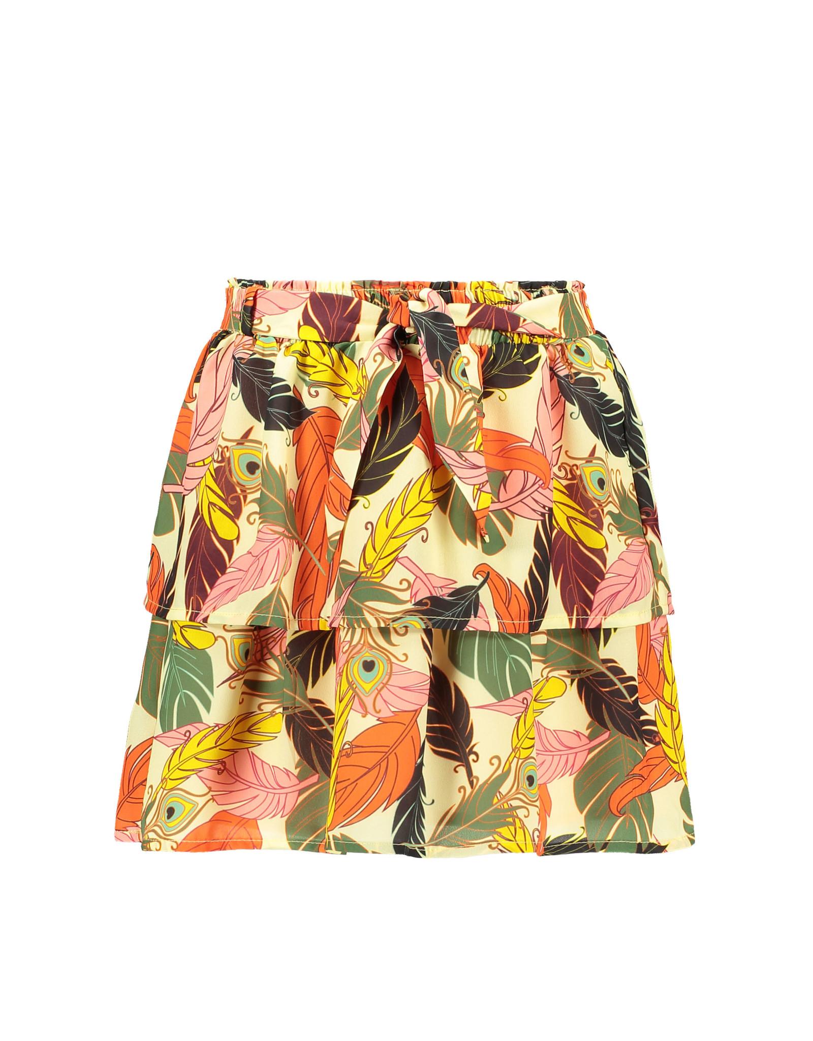 Like Flo Flo girls AO woven 2 layer skirt + belt