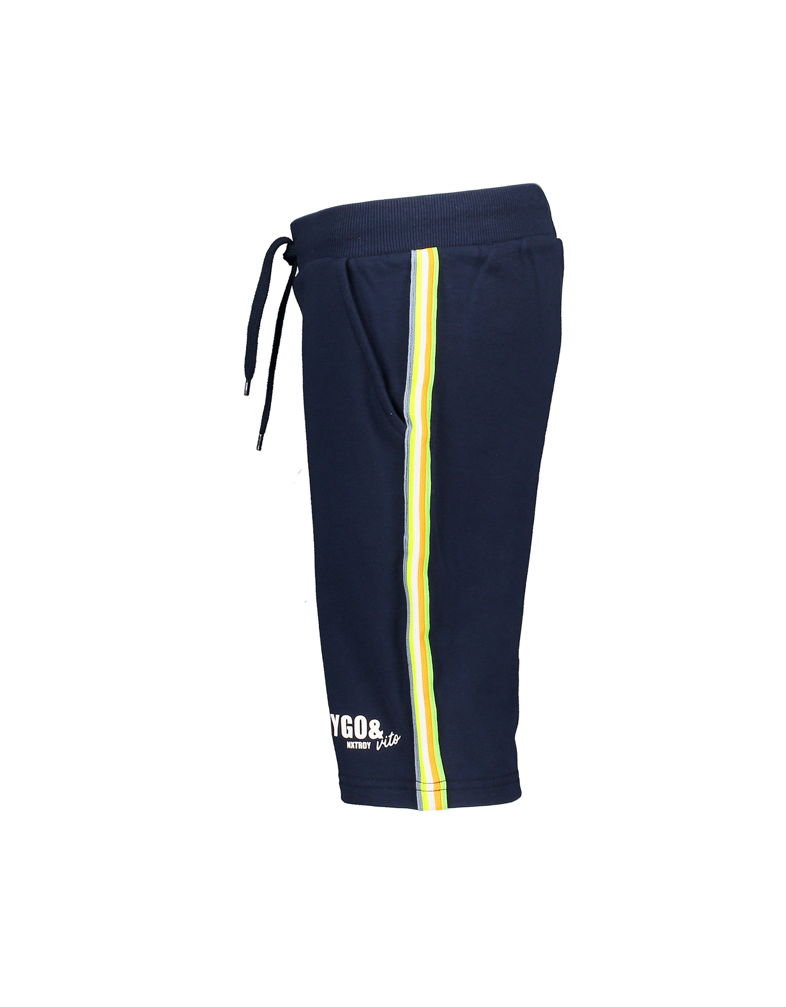 Tygo & Vito T&v jog short striped tape navy