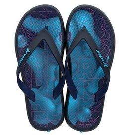 Rider Slippers zwart/blauw