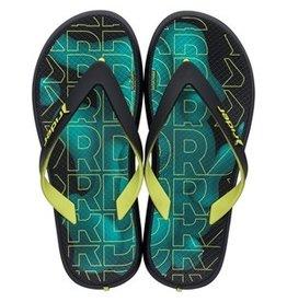Rider Slippers zwart/groen