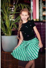 B.Nosy Girls satin skirt with slanted stripe