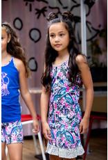 B.Nosy Girls dress with contrast ruffle