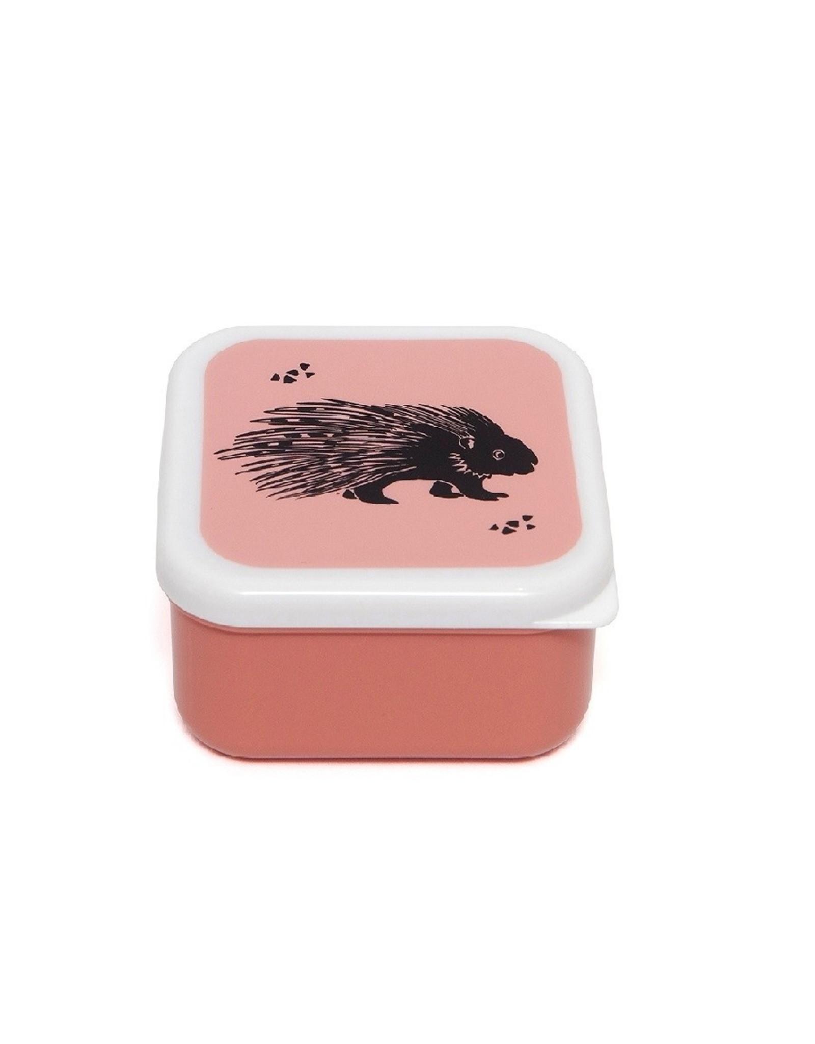Petit Monkey Lunchbox set van 3 roze