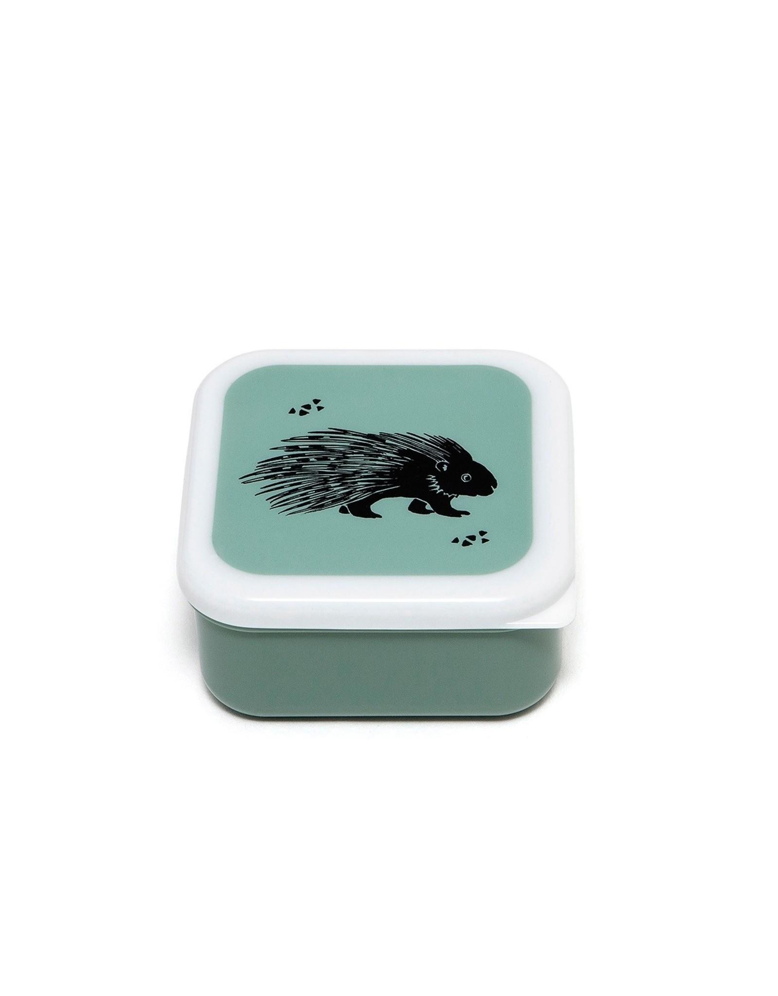 Petit Monkey Lunchbox set van 3 groen