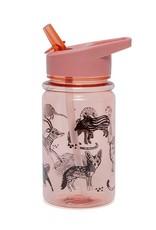 Petit Monkey Drinking bottle animals roze